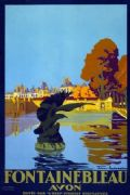 Vintage Travel Poster Fontainebleau Avon France